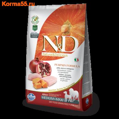 Сухой корм Farmina N&D Dog GF Pumpkin Chicken & Pomegranate Adult Medium & Maxi