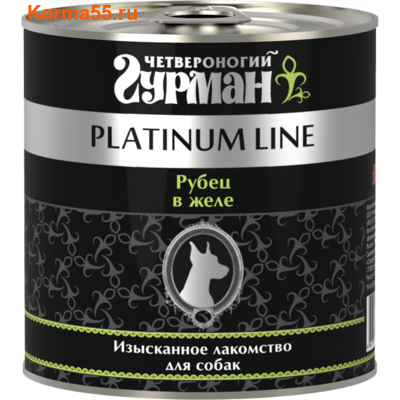 Влажный корм Четвероногий Гурман Platinum Рубец говяжий в желе