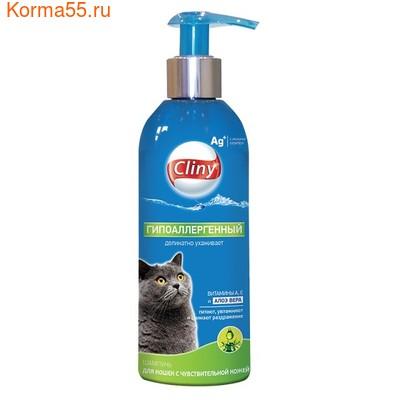 """Шампунь-кондиционер Cliny """"Гипоаллергенный"""" для кошек"""