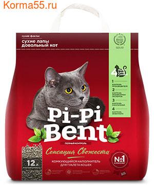 Наполнитель Pi-Pi-Bent Сенсация свежести комкующийся (фото)