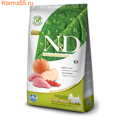 Farmina N&D Dog GF Adult Boar & Apple Adult Mini
