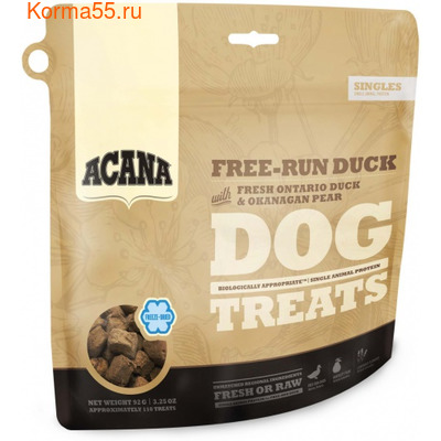 Лакомство Acana Free-Run Duck Dog treats (утка и груша)