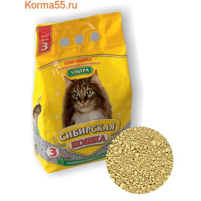 Наполнитель Сибирская кошка Ультра комкующийся