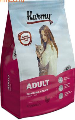 Сухой корм Karmy Adult Cat (курица) (фото)