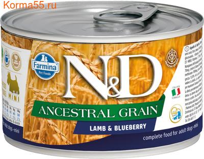 Консерва Farmina N&D Ancestral Grain Dog Mini Lamb & Blueberry