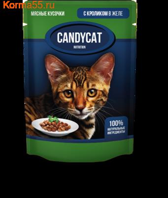Влажный корм Candycat с кроликом в желе (фото)