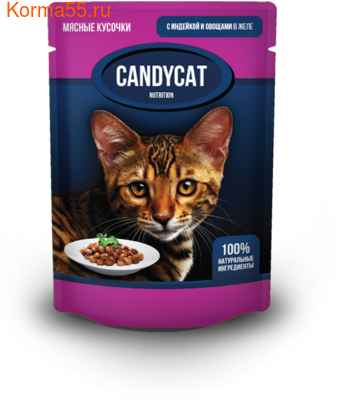 Влажный корм Candycat с индейкой и овощами