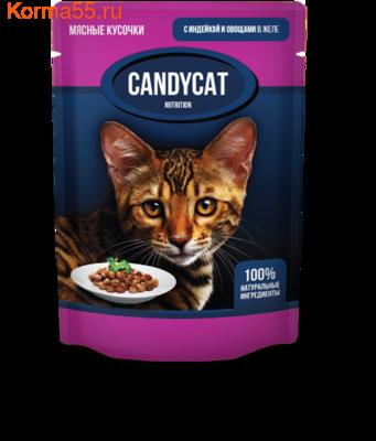 Влажный корм Candycat с индейкой и овощами в желе (фото)