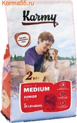 Сухой корм Karmy Medium Junior (телятина) (фото)