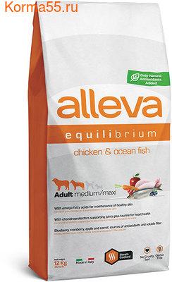 Сухой корм Alleva Equilibrium All Day Maintenance Chicken & Ocean Fish Medium/Maxi