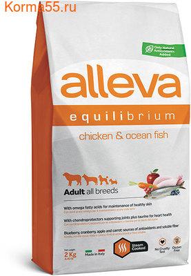 Сухой корм Alleva Equilibrium All Day Maintenance Chicken & Ocean Fish All Breeds