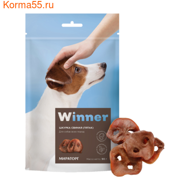 Лакомство Winner шкурка свиная (пятак)