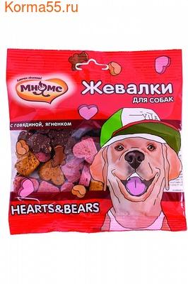 Лакомство Жевалки Мнямс HEARTS&BEARS (говядина и ягненок)