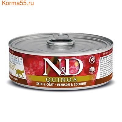 Консерва Farmina N&D Cat Quinoa Skin & Coat Venison