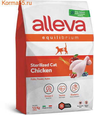 Сухой корм Alleva Equilibrium Sterilized Chicken