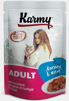 Влажный корм Karmy Adult лосось в желе