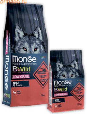 Сухой корм Monge Dog BWild LOW GRAIN Deer (оленина)