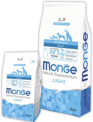 Сухой корм Monge Dog Speciality Light (лосось и рис) (фото)