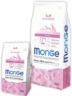 Сухой корм Monge Dog Monoprotein Pork (свинина, рис и картофель)