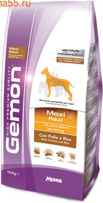 Сухой корм Gemon Dog Maxi Adult (курица и рис)