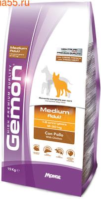 Сухой корм Gemon Dog Medium Adult (курица)