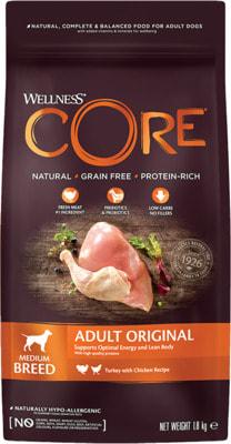 Сухой корм Wellness Core Dog Medium Adult (индейка и курица)