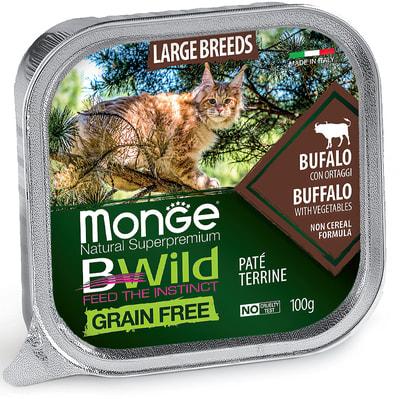 Влажный корм Monge BWild Cat Grain Free (буйвол и овощи) (фото)