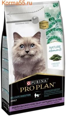 Сухой корм  Pro Plan Nature Elements для кошек, с индейкой