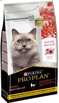 Сухой корм Pro Plan Nature Elements для кастрированныx, с курицей