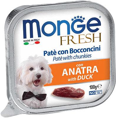 Влажный корм MONGE DOG FRESH c уткой