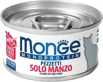 Влажный корм MONGE CAT MONOPROTEIN, говядина (фото)