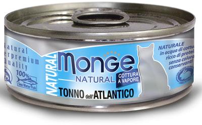 Влажный корм MONGE CAT NATURAL, атлантический тунец (фото)