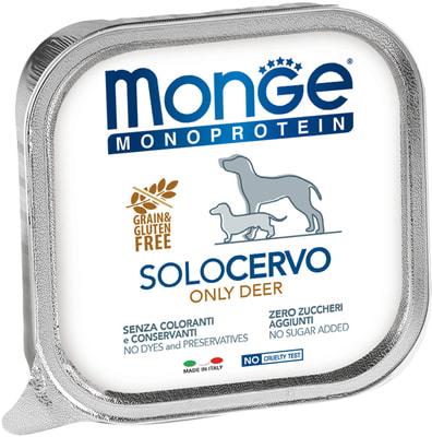 Влажный корм MONGE DOG MONOPROTEIN, оленина (фото)