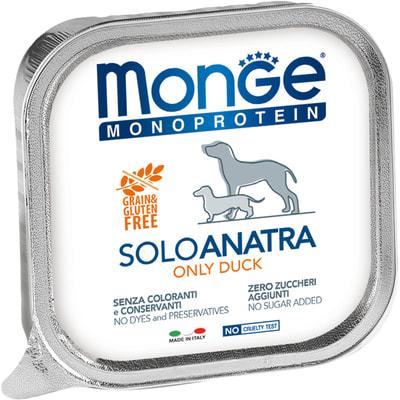 Влажный корм MONGE DOG MONOPROTEIN, утка (фото)