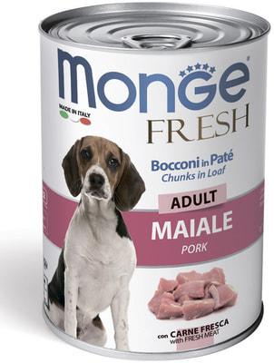 Влажный корм MONGE DOG FRESH, свинина