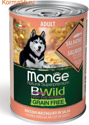 Влажный корм MONGE DOG BWILD, лосось, тыква и кабачки (фото)