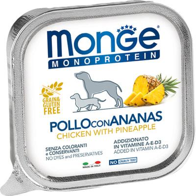 Влажный корм MONGE DOG NATURAL, курица с ананасом