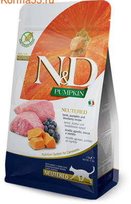 Сухой корм Farmina N&D Adult Neutered Lamb, Pumpkin and Blueberry