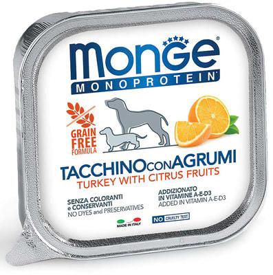 Влажный корм MONGE DOG NATURAL, индейка с цитрусовыми (фото)
