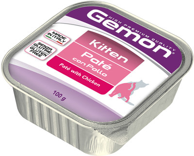 Влажный корм Gemon Cat для котят с курицей
