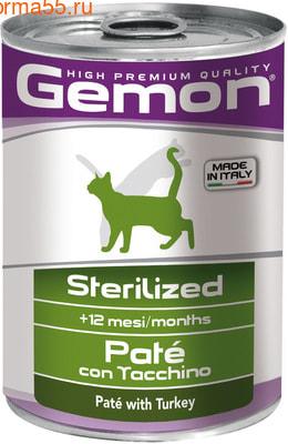Влажный корм GEMON CAT для стерилизованных с индейкой