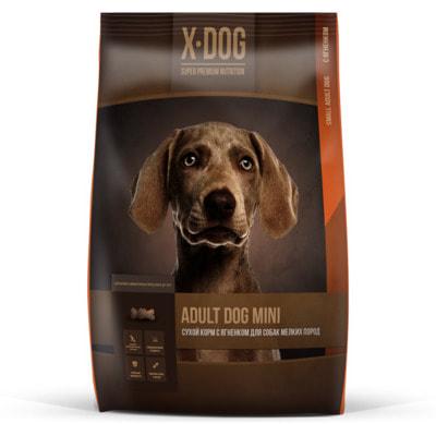 Сухой корм X-DOG Adult Dog Mini (ягненок) (фото)