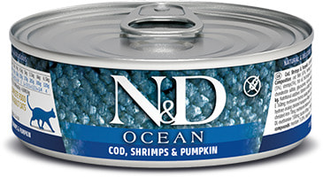 Влажный корм Farmina N&D Ocean с треской, креветками и тыквой