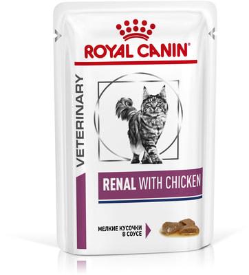 Влажный корм Royal canin RENAL C КУРИЦЕЙ пауч (фото)