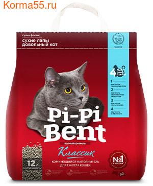 Наполнитель Pi-pi-bent комкующийся