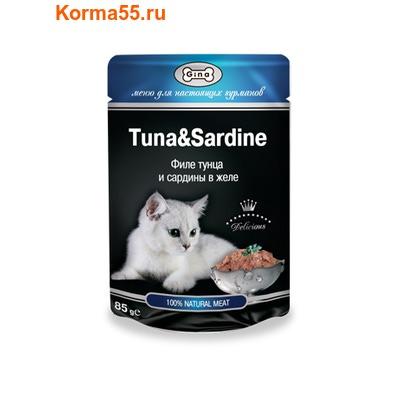 Влажный корм GINA Tuna & Sardine — Тунец с сардинами (фото)