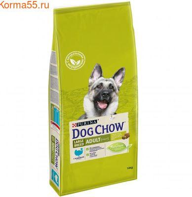 Сухой корм Purina Dog Chow для взр. соб. крупных пород, индейка