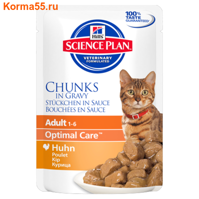 Влажный корм Hill's Science Plan Feline Adult (курица)