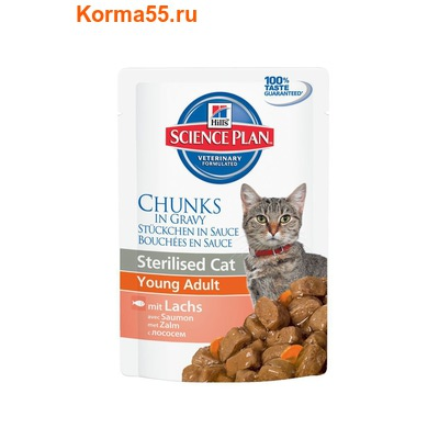 Влажный корм Hill's Science Plan Feline Sterilised Cat Young Adult (лосось)