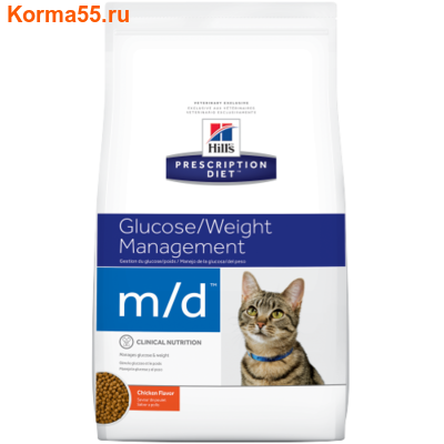 Сухой корм Hill's Prescription Diet m/d Diabetes/Weight Management Feline